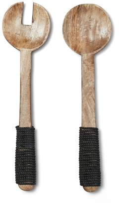 Salt & Pepper Madeira Salad Servers Set of 2