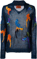 Missoni embroidered detail sweater - men - Linen/Flax/Nylon/Polyester/Rayon - M