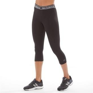 New Balance Womens Accelerate Running Capri Leggings Black