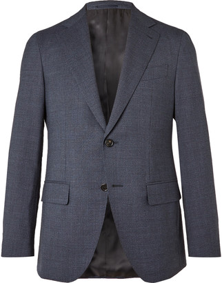 Caruso Slim-Fit Prince Of Wales Checked Wool Suit Jacket