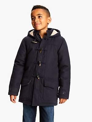John Lewis & Partners Boys' Gully Duffle Coat, Navy