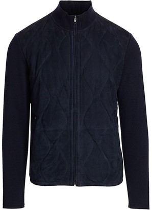 Saks Fifth Avenue COLLECTION Quilted Suede Mixed Media Jacket
