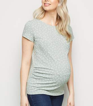 New Look Maternity Ditsy Floral T-Shirt