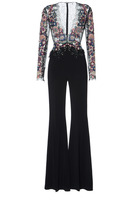 Zuhair Murad Sequin Embroidered Jumpsuit