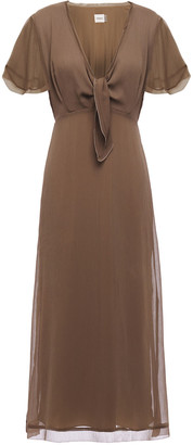 Charli Knotted Crepon Midi Dress