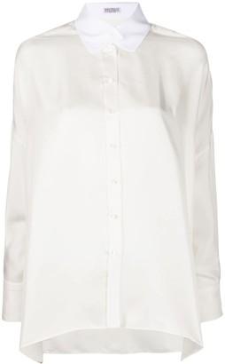 Brunello Cucinelli Contrast Collar Shirt
