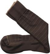 Johnston & Murphy First In Comfort Contrast Windowpane Socks