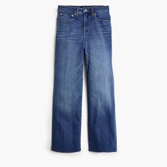 J.Crew Slim wide-leg jean with cut hem in Dusty Sky wash