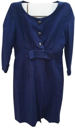 Erotokritos Navy Cotton Coat for Women
