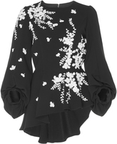 Andrew Gn Embroidered Peplum Top