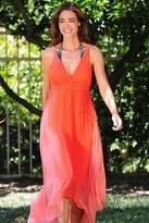 Gypsy 05 Lili Silk Ombre Maxi Dress in Coral