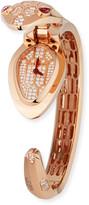 Bvlgari Serpenti Secret 18k Rose Gold Watch with Diamonds & Rubellite