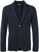 Emporio Armani textured blazer - men - Cotton/Polyamide/Spandex/Elastane - S