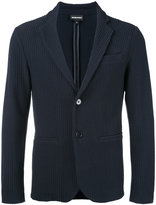 Emporio Armani textured blazer - men - Cotton/Spandex/Elastane/Polyamide - S