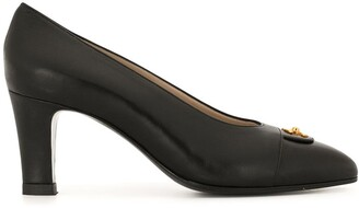 Chanel Pre Owned CC turn-lock pointed pumps