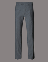 Autograph Grey Tailored Fit Wool Trousers