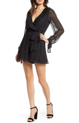 Ali & Jay Hollywood or Bust Long Sleeve Pleated Chiffon Romper