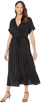 Karen Kane Cuffed Sleeve Dress (Black) Women's Clothing