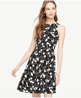 Ann Taylor Petite Ginkgo Pocket Flare Dress