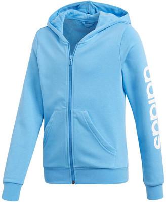 adidas Girls Essentials Linear Full Zip Hoodie