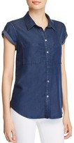 Paige Mila Short Sleeved Denim Shirt