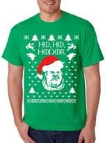 Allntrends Men's T Shirt Ho Ho Hodor Ugly Christmas Sweater Hodor Holiday (2XL, Sporty Grey)