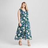 Merona Women's Plus Size Floral Feminine Maxi Dress