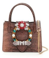 Miu Miu Women's Brown Leather Handbag.