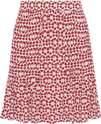 Rebecca Minkoff Cassia Pleated Printed Crepe Mini Skirt