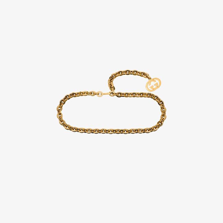 Gucci Gold Tone Charm Chain Belt