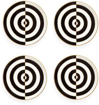 Jonathan Adler Op Art 4-Piece Porcelain Coaster Set