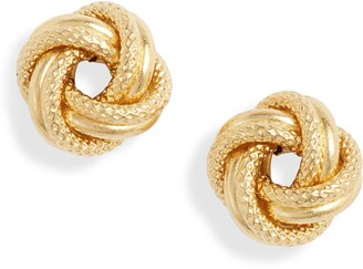 Bony Levy 14K Gold Knot Stud Earrings