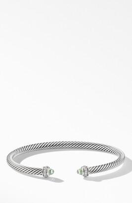 David Yurman 4mm Cable Classic Bracelet with Semiprecious Stones & Diamonds