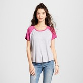 Mossimo Women's Cropped Baseball Tee