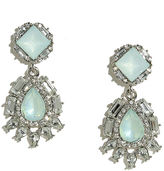 LuLu*s Chateau Silver and Light Blue Rhinestone Earrings