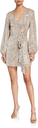LIKELY Lange Long-Sleeve Sequin Cocktail Dress