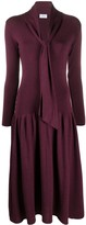 Salvatore Ferragamo V-neck knitted dress