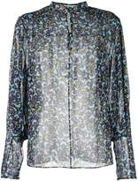 Mary Katrantzou Sheer Pansy print blouse