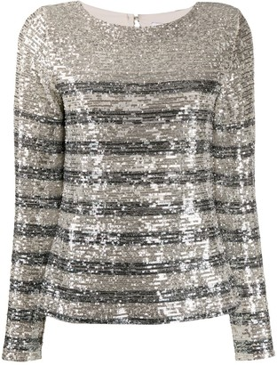 Carita sequin embroidered blouse