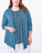 Penningtons Long Sleeve Cardigan with Crochet Back