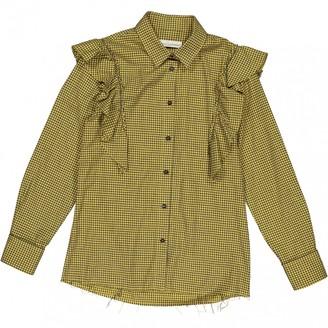 Golden Goose Yellow Cotton Tops