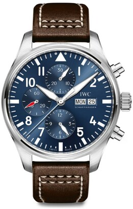 IWC SCHAFFHAUSEN Stainless Steel Pilot's Chronograph 'Le Petit Prince' Edition Watch 40mm
