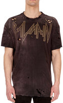 Balmain Dirty Distressed Logo T-Shirt