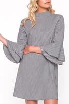 Everly Gingham Bell Sleeve Dress