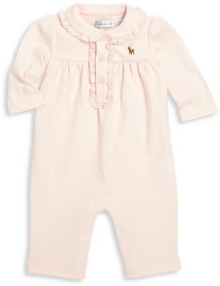 Ralph Lauren Baby Girl's Polo Coverall