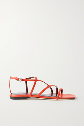 STAUD Gitane Leather Sandals - Bright orange