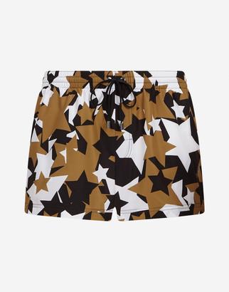 Dolce & Gabbana Short Swimming Trunks With Star Print