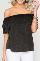 She and Sky Off Shoulder Top