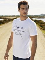 Jeanswest Dane Short Sleeve Print Crew Tee-White-S