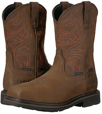 Ariat Sierra Delta H2O Steel Toe (Oily Distressed Brown) Cowboy Boots